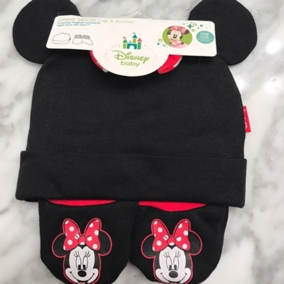 Disney Other - DISNEY NWT Minnie Mouse Cap and Booties